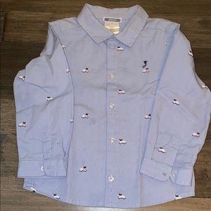 Jacadi Paris boys button down dog shirt